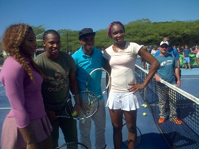 Venus Serena at Jamaica's Treasure Beach Tennis Clinic