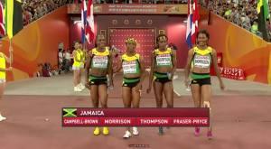 jamaica women  4x100 world champs 2015